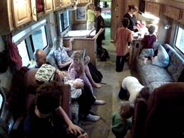 The inside of our RV!