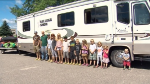 New Brunswick Tourists Live in RV With 12 Children