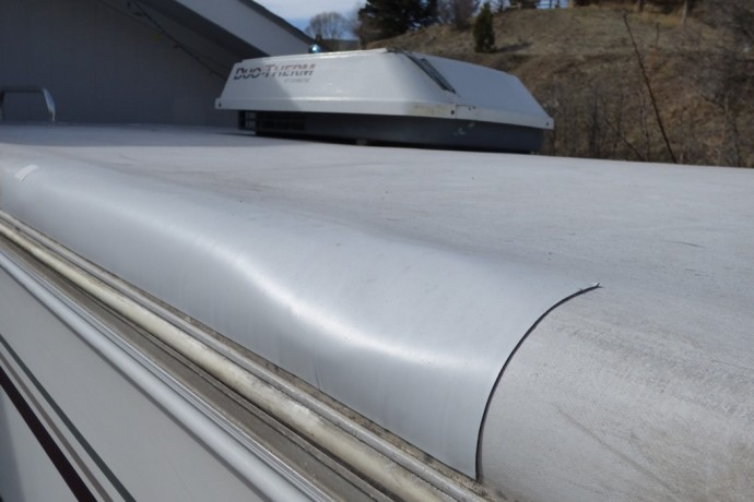 RV roof repair tape