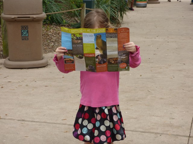Elly reading a map in Houston, TX!!