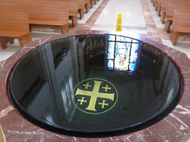 Baptismal Font from the Cathedral in Houston.  A symbol of our faith!