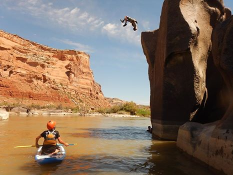 Brody throwing a gainer off a 25' cliff ... soaring!