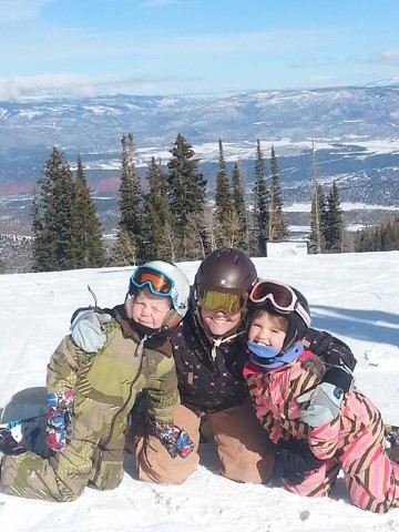 Snowboarding with Rowdy and Maddy!
