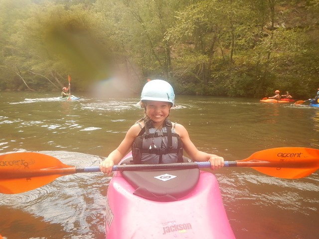 Maddy on the Ocoee River in her JK Shooting Star!