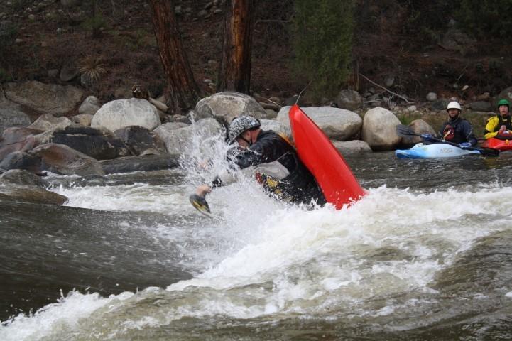 Dan finding kayaking way more fun than working!