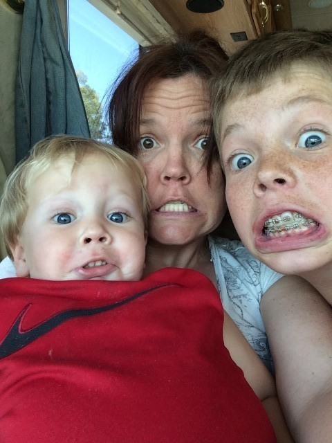 Mommy loving on her boys!!