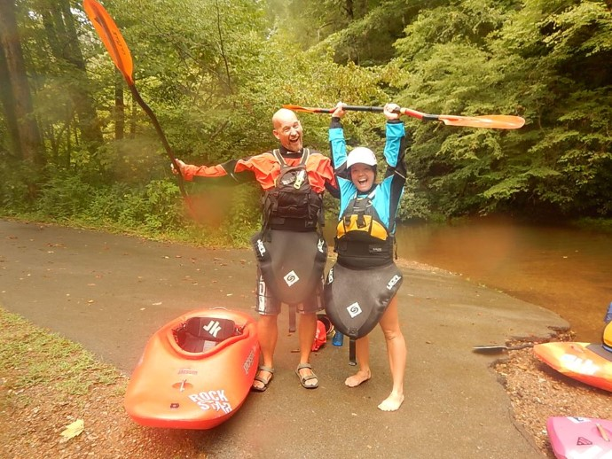Dan and I love to kayak, so whenever we can we head out and hit the river!  Great date day!