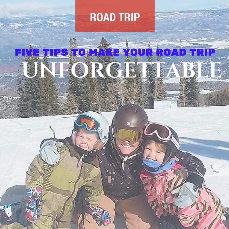 The best winter road trip involves winter sports like skiing and snowboarding!