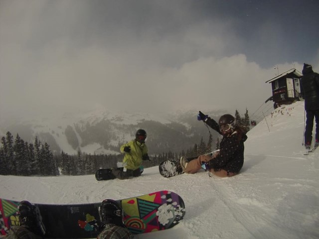 We are having the time of our lives!!!  Nothing beats November boarding!  :)