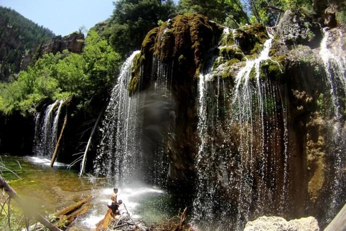 The falls at Hanging Lake, Colorado
