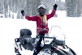 Snowmobiling Sunlight Mountain Resort