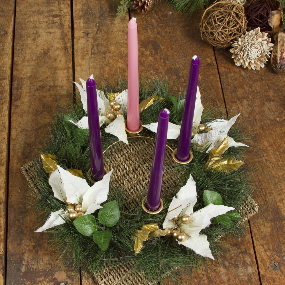 And Advent Wreath counts the Sundays to the birth of Christ keeping Christ in Christmas.