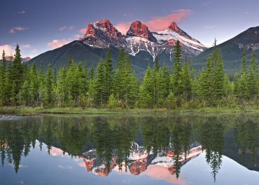 Some of the best Things To Do In Canmore is photographing the Three Sisters!