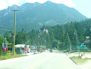 Radium Hot Springs is the entrance to the Kootenay National Park system.