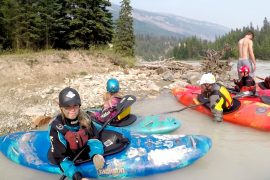 The Kicking Horse River is a fun family run!